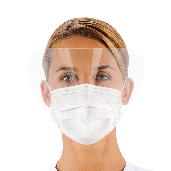 Valmy, Surgeor, Surgical masks with ties with visors, White, 500/case