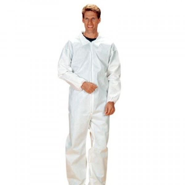Lakeland, SafeGard Disposable Coveralls, Large, White, 25/case
