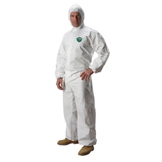 Lakeland, MicroMax NS Disposable Coveralls with Hood, Large, White, 25/case
