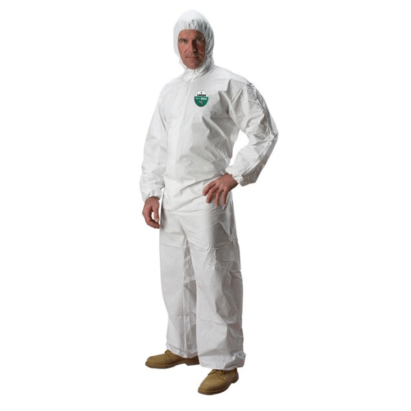 Lakeland, MicroMax NS Disposable Coveralls with Hood, Medium, White, 25/case