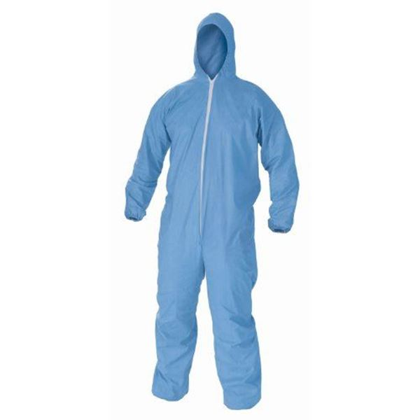 Lakeland, SafeGard Disposable Coveralls with Hood, Medium, Navy Blue, 25/case