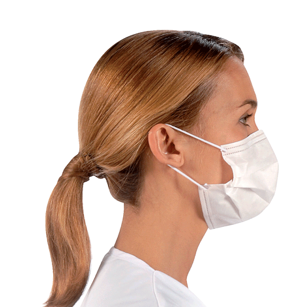 Valmy, Surgeor, Procedural masks with earloops, Fluid resistant, White, 500/case