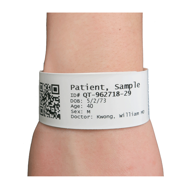 PCM, Thermal Wristbands with Adhesive Closure, Identification Bracelets