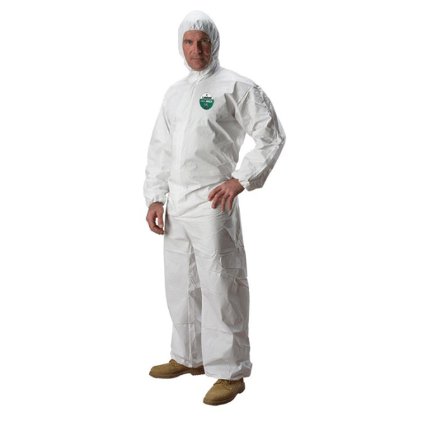 Lakeland, MicroMax NS Disposable Coveralls with Hood, 2X-Large, White, 25/case