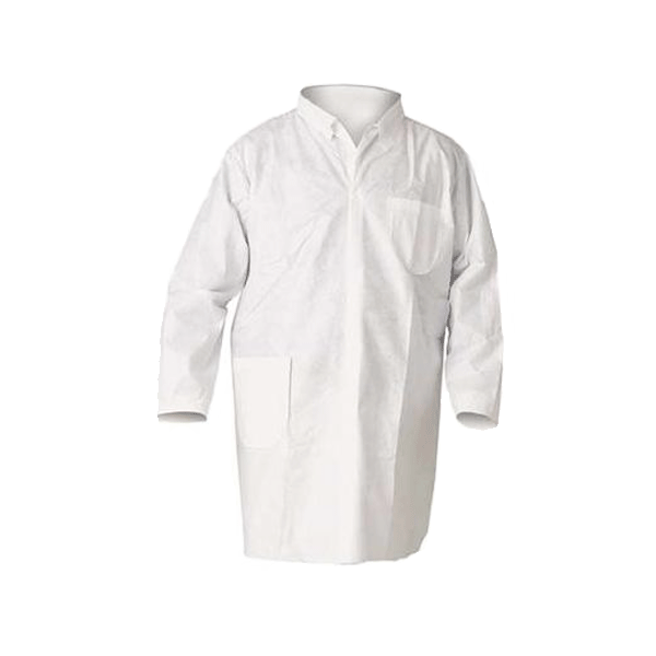 Lakeland, SafeGard Lab Coats, Medium, White, 30/case