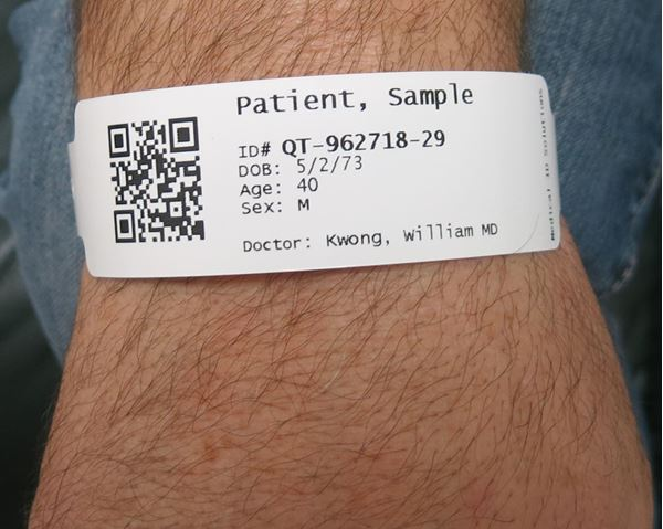 PCM, Thermal Wristbands with Snap Closure, Identification Bracelets