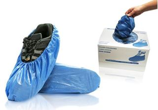 Azure Shoe Covers, Universal, Blue,in dispenser boxes, 300/case
