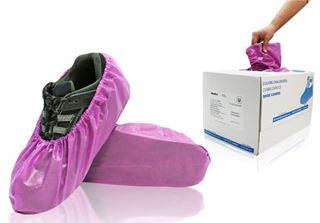 Lilly Shoe Covers, X-Large, Purple, in dispenser boxes, 240/case