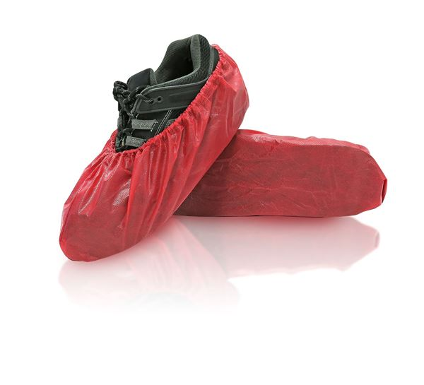 Rave Shoe Covers, X-Large, Red, in bags, 240/case