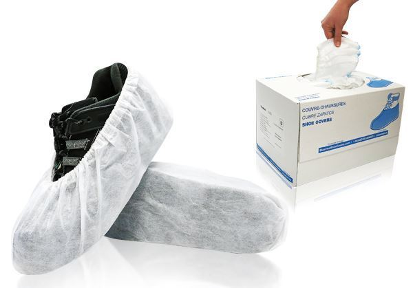 COSMIC™ Shoe Covers, Universal size, White, in dispenser boxes, 300/case
