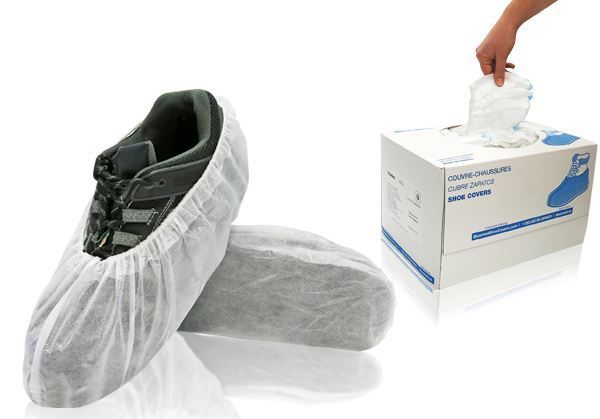 Fresh Shoe Covers, Universal, White, in dispenser boxes, 400/case