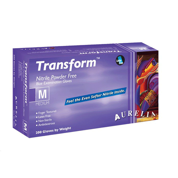 Supermax, Aurelia Transform, Nitrile gloves, Small, 2000/case