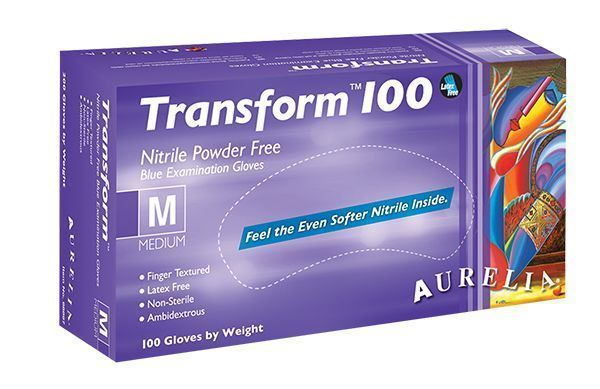 Supermax, Aurelia Transform 100, Nitrile gloves, Medium, 1000/case