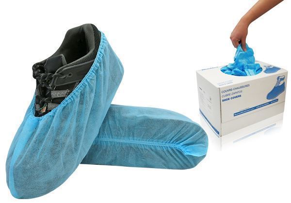 WAVE™ Shoe Covers, without anti-skid tread, XL Size, Blue, in Econo Box, 400u./case